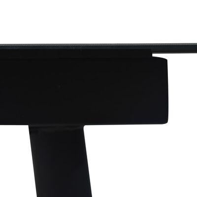 vidaXL 7-részes fekete kültéri pamut kötél és acél étkezőgarnitúra