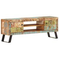 vidaXL tömör újrahasznosított fa TV-szekrény 120 x 30 x 46 cm