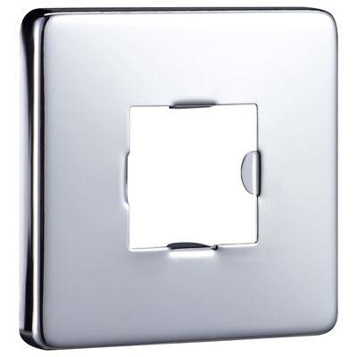 vidaXL ezüstszínű négyszögletes rozsdamentes acél zuhanytartókar 30 cm