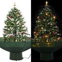 vidaXL zöld havazó karácsonyfa ernyő alakú talppal 75 cm