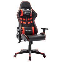 vidaXL fekete és piros műbőr gamer szék