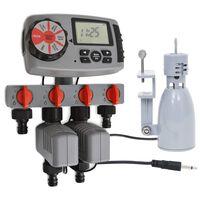 vidaXL automatikus 4-utas öntözésidőzítő és esőérzékelő 3 V
