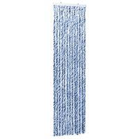 vidaXL kék, fehér és ezüstszínű zsenília rovarfüggöny 56 x 185 cm