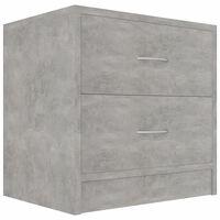 vidaXL betonszürke forgácslap éjjeliszekrény 40 x 30 x 40 cm