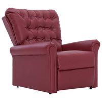 vidaXL bordó műbőr dönthető szék