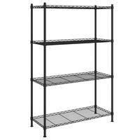 vidaXL 4 szintes fekete tárolópolc 90 x 35 x 137 cm 200 kg