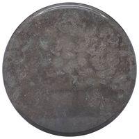 vidaXL fekete márvány asztallap Ø40 x 2,5 cm