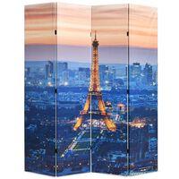 vidaXL éjszakai Párizs mintás paraván 160 x 170 cm