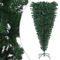 vidaXL zöld fejjel lefelé fordított műkarácsonyfa állvánnyal 180 cm