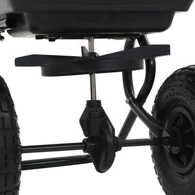 vidaXL tolható sószóró kocsi PVC/acél 92 x 46 x 70 cm 15 literes