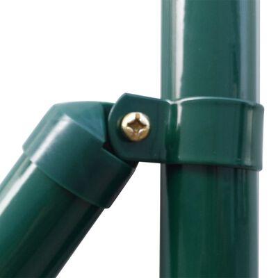vidaXL Euro Fence zöld acélkerítés 10 x 1,5 m