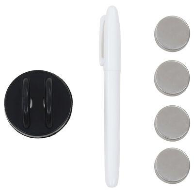 vidaXL falra szerelhető mágneses üvegtábla 50 x 30 cm