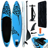 vidaXL kék felfújható állószörfszett 320 x 76 x 15 cm