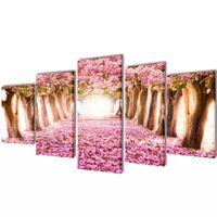 Vászon falikép szett cseresznyevirág 100 x 50 cm