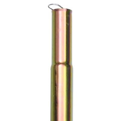 vidaXL 2 db horganyzott acél napvitorlaoszlop 200 cm