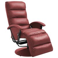 vidaXL bordó dönthető műbőr TV-fotel