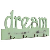 "vidaXL ""DREAM"" feliratú fali fogas 50 x 23 cm"