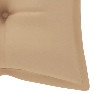 vidaXL tömör tíkfa kerti pad bézs párnával 240 cm