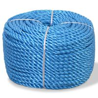 vidaXL kék polipropilén sodrott kötél 8 mm 200 m