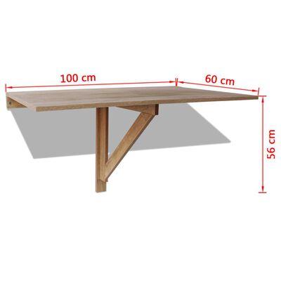 vidaXL tölgyszínű fali lehajtható asztal 100 x 60 cm
