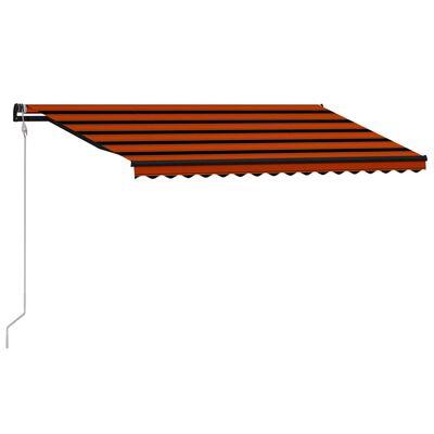 vidaXL narancssárga és barna automata napellenző 450 x 300 cm
