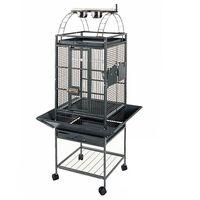 "Strong Parrot Cage ""Villa Helios"" Silverstone Grey 46x46x149 cm 93016"