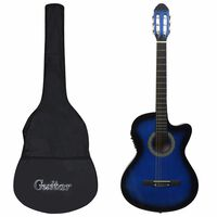 vidaXL 12 darabos 6 húros kék western gitárszett hangszínszabályzóval