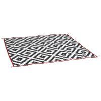 Bo-Camp Chill mat Picnic fekete és fehér kültéri szőnyeg 2 x 1,8 m