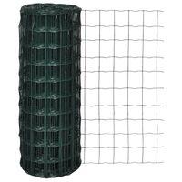 vidaXL Euro Fence zöld acélkerítés 25 x 1,0 m