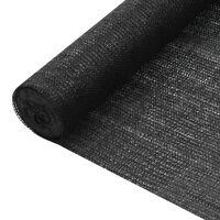 vidaXL fekete HDPE belátásgátló háló 2 x 50 m 195 g/m²