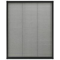 vidaXL antracitszürke alumínium pliszé ablakszúnyogháló 80 x 100 cm