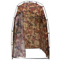vidaXL terepszínű tusoló/wc/öltöző sátor