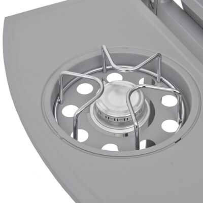 vidaXL ezüst gáz grillsütő 6+1 főzőfelülettel