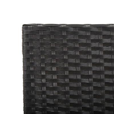 vidaXL fekete polyrattan kerti pad párnákkal 176 cm