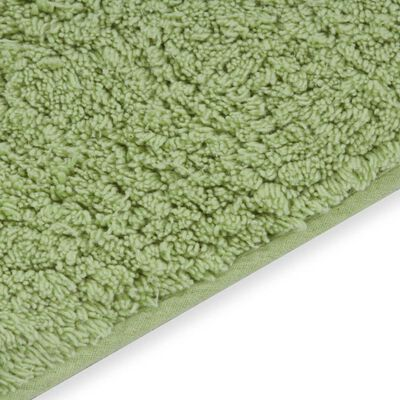 vidaXL 2 darabos zöld szövet fürdőszobaszőnyeg-garnitúra