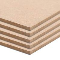 vidaXL 10 db négyzet alakú MDF-lap 60x60 cm 2,5 mm