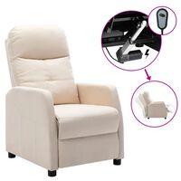 vidaXL krémszínű szövet elektromos dönthető fotel