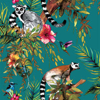 DUTCH WALLCOVERINGS 12402 maki majmos zöld tapéta