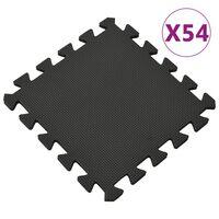vidaXL 54 db fekete EVA habszivacs padlószőnyeg 4,86 ㎡