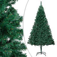 vidaXL zöld PVC műkarácsonyfa vastag ágakkal 210 cm