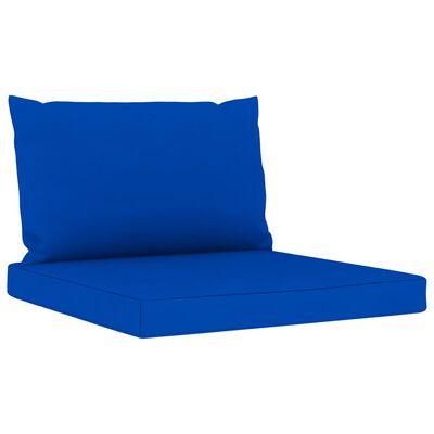 vidaXL 6 részes kerti bútorgarnitúra kék párnákkal