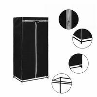 vidaXL fekete ruhásszekrény 75 x 50 x 160 cm