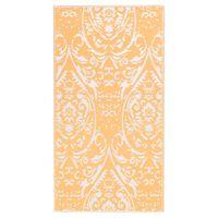 vidaXL narancssárga-fehér PP kültéri szőnyeg 190 x 290 cm