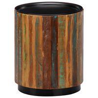 vidaXL tömör újrahasznosított fa dohányzóasztal 38 x 45 cm