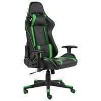 vidaXL zöld PVC forgó gamer szék