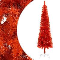 vidaXL piros vékony karácsonyfa 210 cm