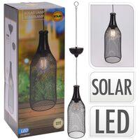 ProGarden napelemes kültéri LED fém függőlámpa 11 cm