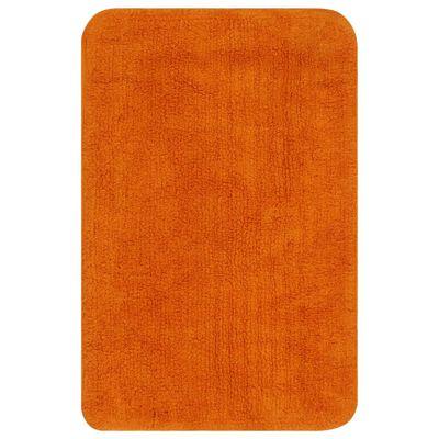 vidaXL 3 darabos narancssárga szövet fürdőszobaszőnyeg-garnitúra