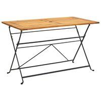 vidaXL tömör akácfa összecsukható kerti asztal 120 x 70 x 74 cm