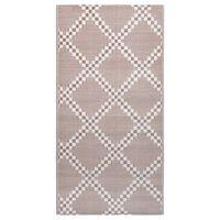 vidaXL barna PP kültéri szőnyeg 80 x 150 cm